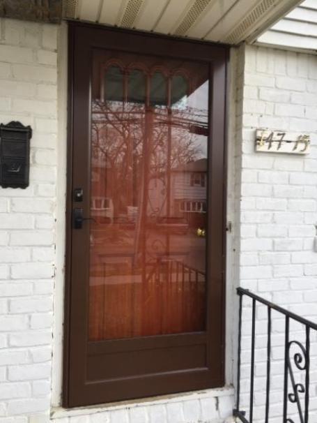 Storm Door Screen Door Self Storing Powdercoat Custom
